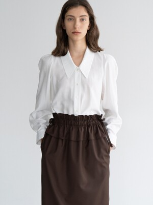 PUFF LONG-SLEEVE SHIRT (IVORY)