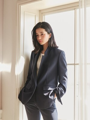 [리퍼브][Drama Signature] Slit Cuffs Tailored Blazer_NAVY