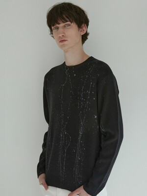 Hand Painting Sweater (Black)