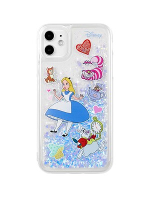 Alice Sticker Glitter Case