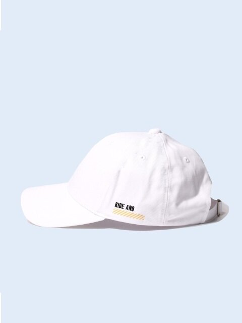 RIDE & WATCH OUT BALL CAP - WHITE