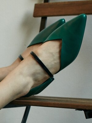 Fairy pitta flat / YY8S-F04 Green+Black