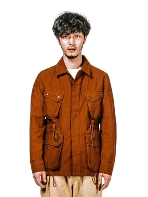 COTTON P.IELD JACKET (BROWN)