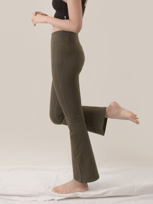 Cotton Flare Pants-4colors