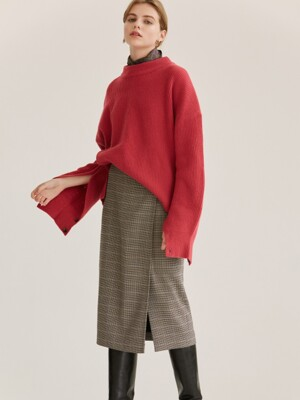 wrapped check skirt