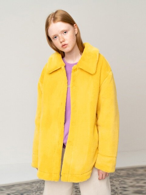 R ALL ECO FUR SHIRT_YELLOW