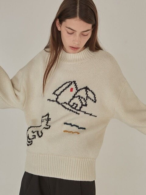 18FW DRAWING KNIT - IVORY