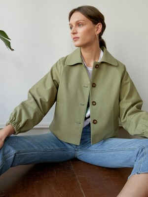 FINN COTTON SHORT JACKET GREEN