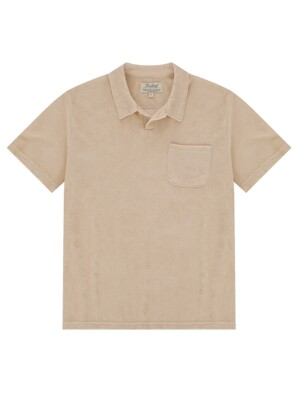 Terry Cotton Polo (Cream)