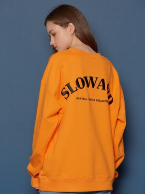 Embossing  Logo Sweatshirt (ORANGE)