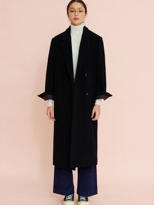 LETTER TAILORED CASHMERE COAT