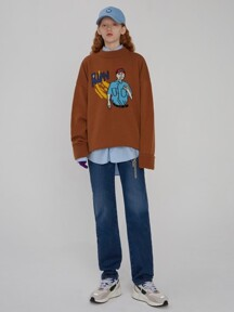 Scene knit Brown