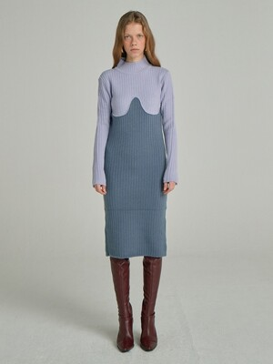 Coloration Sweater Dress_Lavender