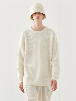 MERINO ROUND KNIT_CREAM