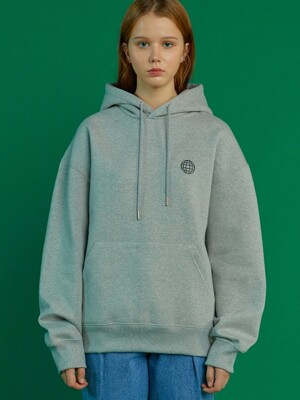UNISEX PLANET PRINT HOODIE GY