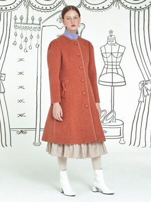 Ribbon Pocket Coat _ Orange