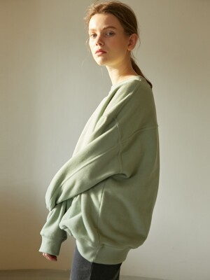 19W SOFT OVER SWEATSHIRTS (GREEN)