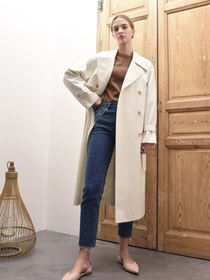 EMILY DOUBLE TRENCH COAT (White(ST))