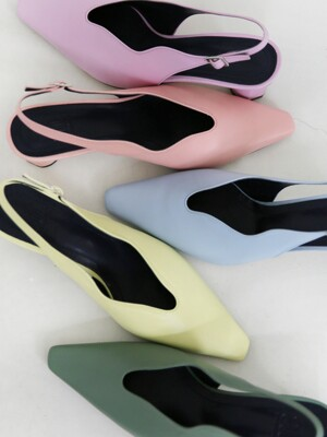 [at SALONDEJU][AT20S01] Wave Slingback - Pastel