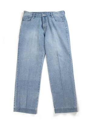 COZY SEMI WIDE DENIM_WASHED(W)