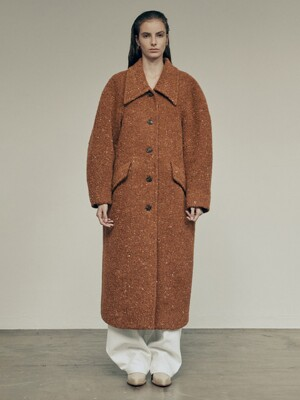 20FW LOW COLLAR COAT - CAMEL