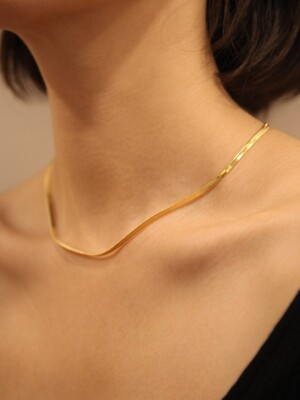 LU117 Gold snake necklace