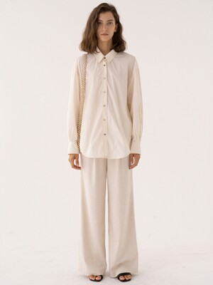 SS21 New Wide Pants Natural