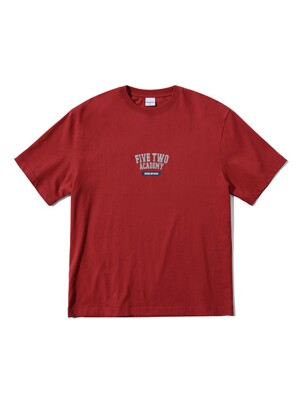 FIVETWO ATHLETIC T-SHIRTS [BURGUNDY]