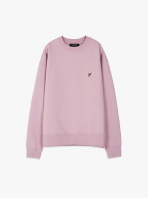 UNISEX SIGNATURE EMBLEM HEAVY SWEATSHIRT atb231u(L.Purple)