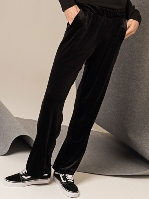 Velour Sweat Pants (Black)
