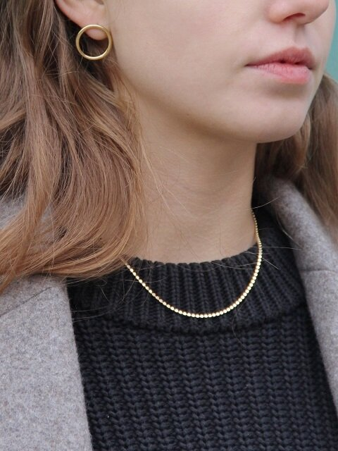 69 Flat Dot Chain Silver Necklace