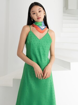 SATIN SLIP MINI DRESS . YELLOW GREEN