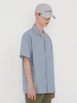 COTTON LINEN SHIRT_LIGHT BLUE
