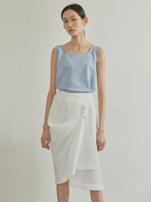 19SR TWO-WAY WRAP SKIRT (WHITE)