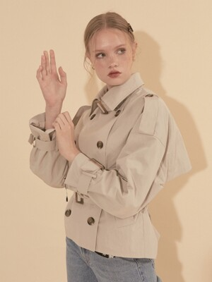 Short Trench Coat_ Ivory