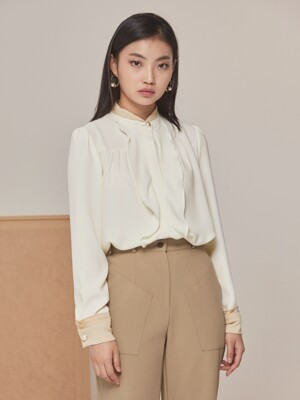 PEARL COMBINATION BLOUSE IVORY