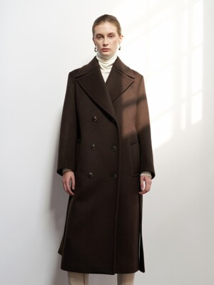 NTW CASHMERE DOUBLE LINE COAT 2COLOR
