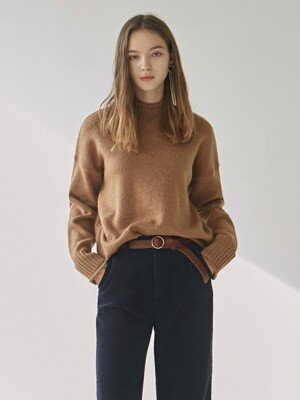CUTTING TURTLE SWEATER_CAMEL