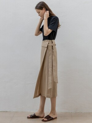Linen Wrap Skirt (2 Colors)