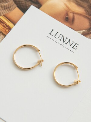 14k gold onetouch earrings (14k 골드)