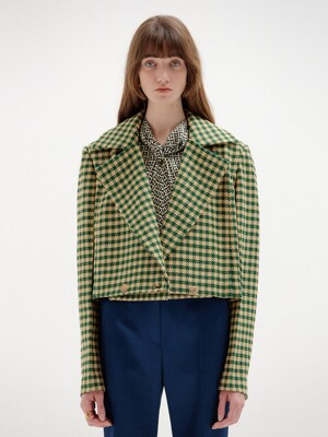 SEM Short Jacket - Green Check
