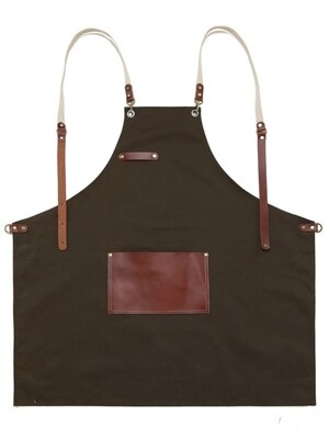 roco real cow leather apron (brown) #AA1517