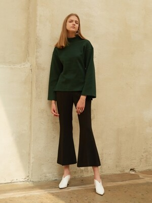 18FW WIDE FLARED TROUSERS BLACK