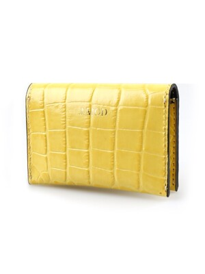 Card Wallet_Crocodile Yellow