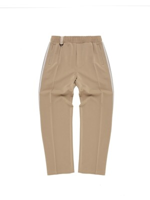 side band point beige training pants