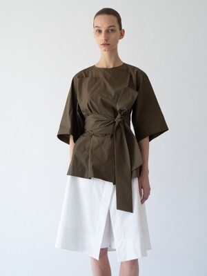 Belted summer outer _Khaki brown