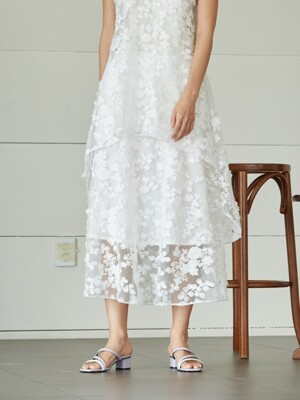 snow flower lace skirt