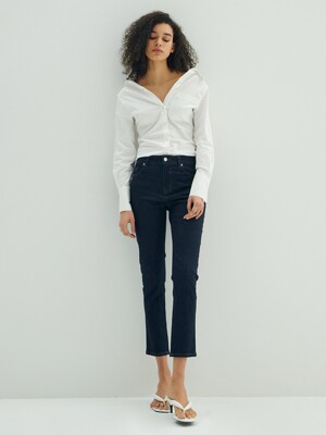 Mid-rise Slim Straight Jeans_Raw