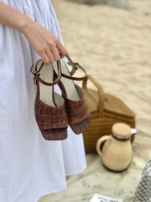 Brown Wedge Sandal (4cm)