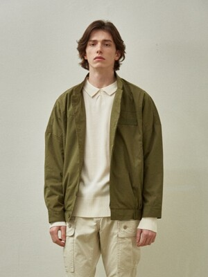 Loose Fit Short Jacket_Khaki